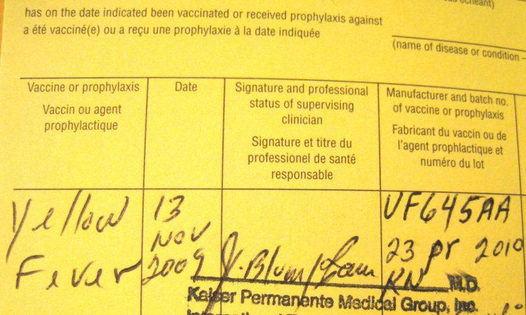 Yellow Fever Vaccination Certificate in Uganda & Rwanda